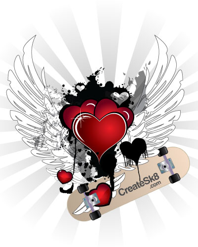 CreateSk8 - Free Valentine's Day vectors collection