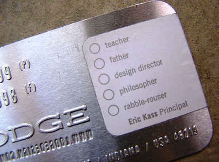 Eric Kass cool business cards