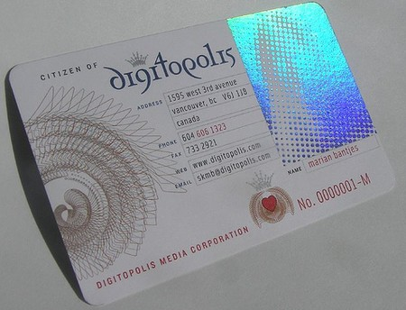 Digitopolis cool business cards design