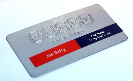 Joe Duffy business cards design