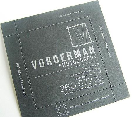Vorderman Photography business cards design