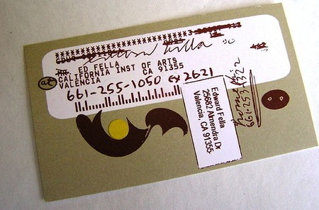 Ed Fella cool business cards design