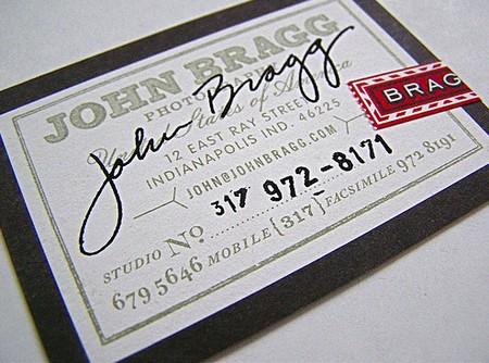 John Bragg cool business cards design