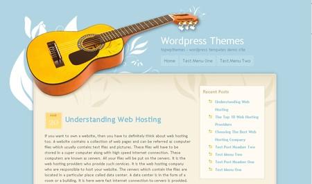 Guitar World WordPress theme