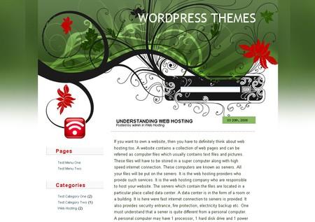 Japanese Fleur WordPress theme