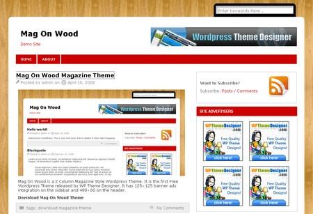 Mag on wood WordPress theme