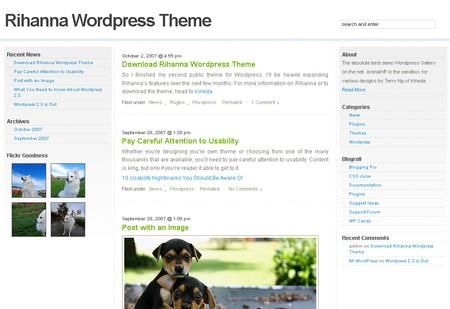 Rihanna WordPress theme
