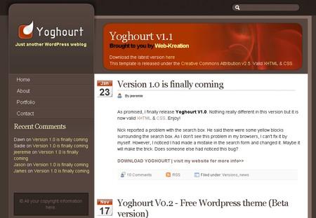 Yoghourt WordPress theme