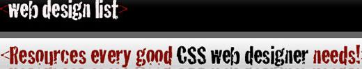 Web Design Resources List