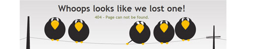 """25 Awesome """"404 Error"""" Pages"""
