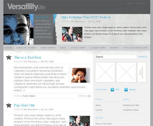 Versatility Lite - Free WordPress Theme