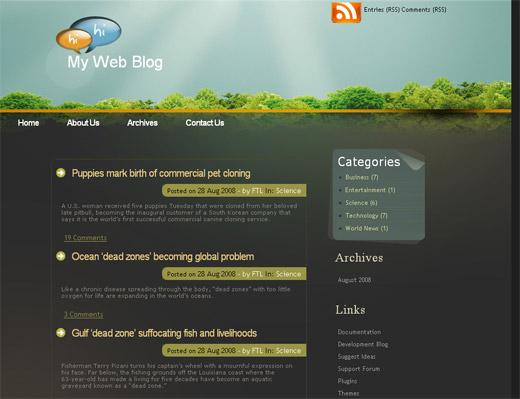 Dark Forest - Free WordPress Theme