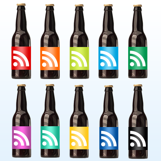 Subscribe and have a RSS beer Icon Pack