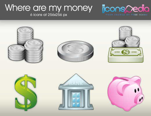 Where are my money ? - Free Icon Pack from Iconspedia