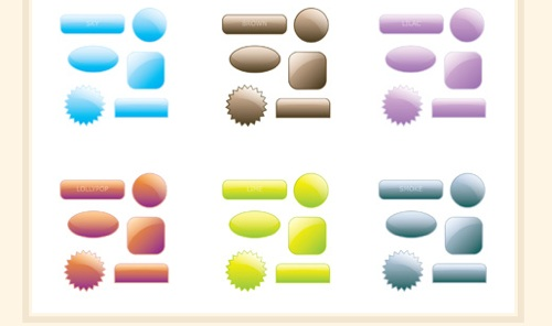 Collection of 90 free Web 2.0 Style Buttons