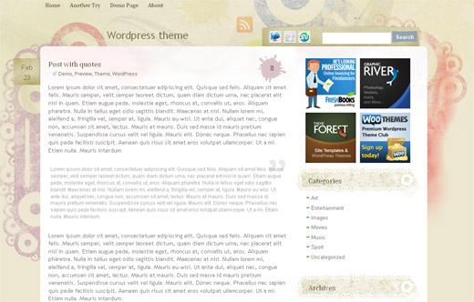 Artistic Theme - Free WordPress Theme