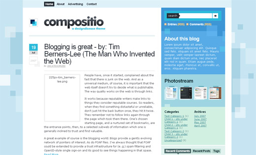 Compositio Free WordPress Theme