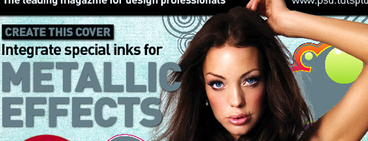 Create a Five-color Magazine Cover using a Spot Metallic