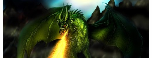 Draw a surreal dragon in Photoshop