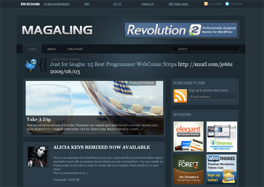 Magaling Free WordPress Theme