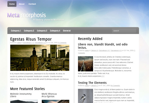 Meta-Morphosis Free WordPress Theme