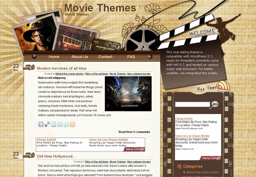 Movie Theatre Free WordPress Theme