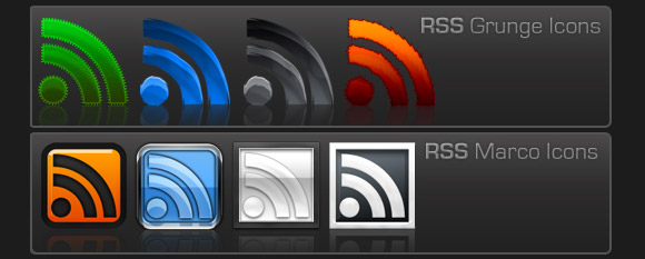 345 RSS Icons by Studiom6