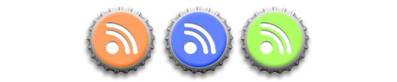 Bottle Caps RSS Icons