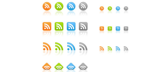 Web 2.0 RSS Icons