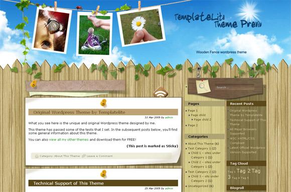Wooden Fence - Free WordPress Theme