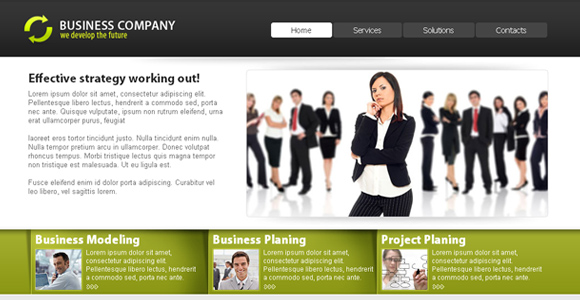 9 beautiful free css web templates free corporate template 2 accmission Choice Image