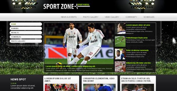 Free Sport Portal Template