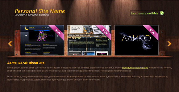 9 beautiful free css web templates portfolio css template 1 wajeb Choice Image