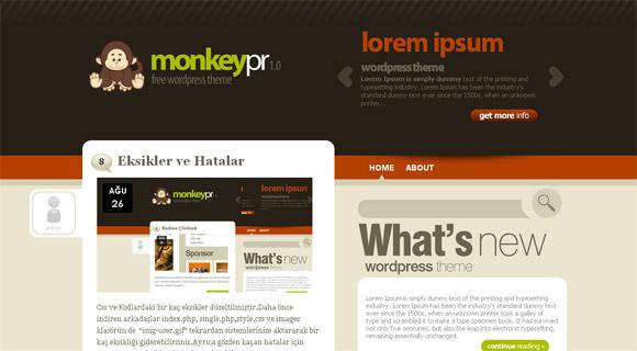 MonkeyPR - Free WordPress Theme