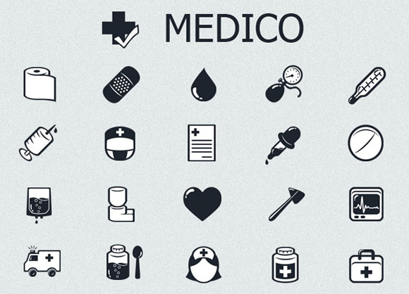 Medico - Free Medical Black and White Icons