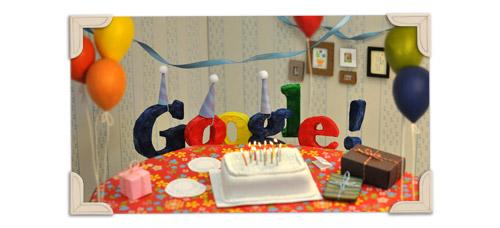 Google's 13 Birthday Doodlle
