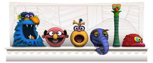 Jim Henson's Birthday Google Doodle