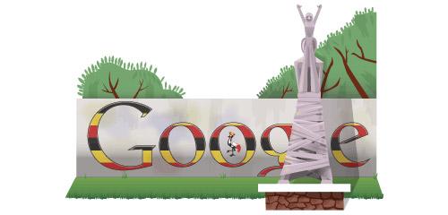 Uganda Independence Day Google Doodle