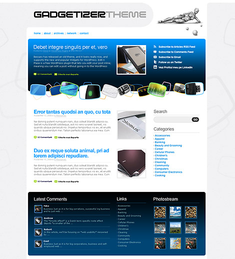 Gadgetizer - Free WordPress Theme