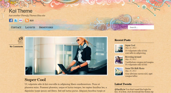 Koi - Free WordPress Theme