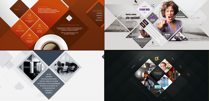 10 Examples of Diamond Shapes in Web Design | Inspiration