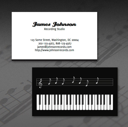 James Johnson Business Card