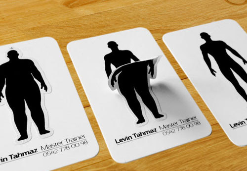 50 beautiful black and white business cards crazyleaf design blog personal trainer card colourmoves Gallery