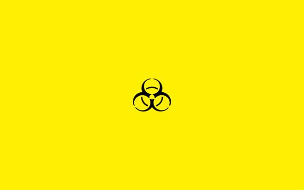 Biological hazard minimal wallpaper