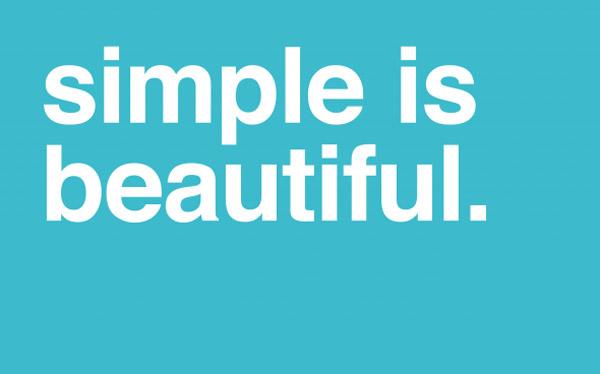 Simple is beautiful minimal wallpaper