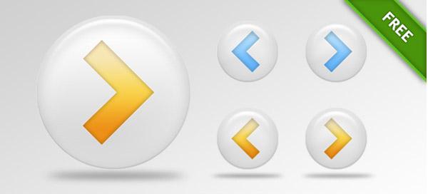 PSD arrow buttons