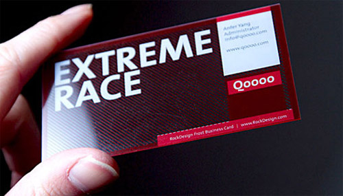 Extreme Race Plastic Business Card