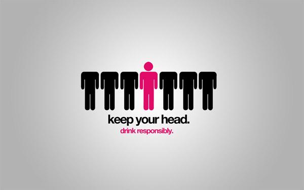 Keep Your Head minimal wallpaper