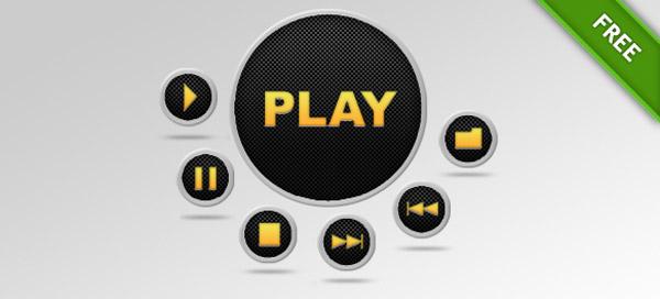 Media PSD Buttons