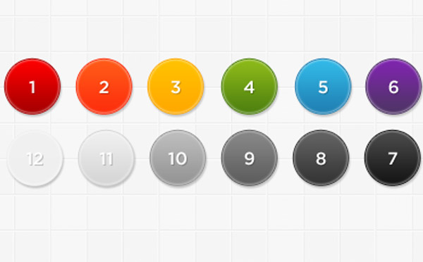 Number PSD buttons